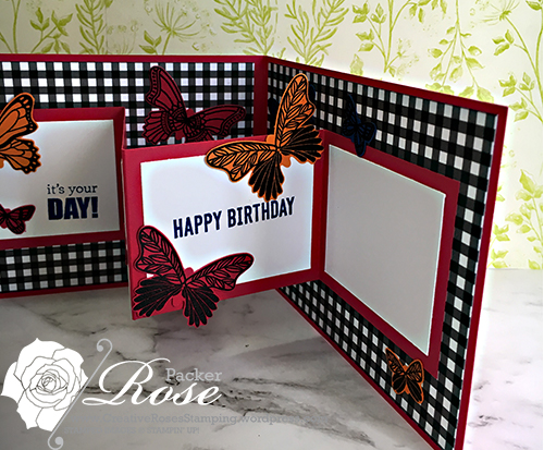 Rose Packer, Creative Roses, Stampin' Up!, Butterfly Gala stamp set, Butterfly Duet punch, Itty Bitty Birthday stamp set