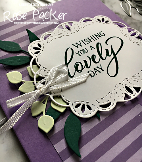 Rose Packer, Creative Roses, Stampin' Up!, Forever Lovely stamp set, Stitched Label framelits, Foliage Framelits