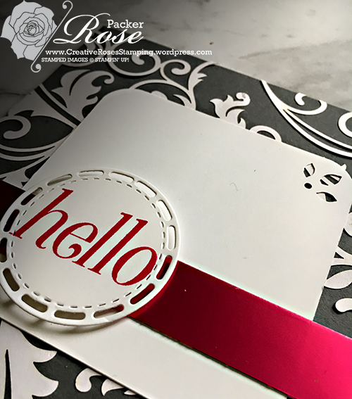 Rose Packer, Creative Roses, Stampin' Up!, Beautifully Detailed laser cut paper, Floral Frames, Stitched Label frames framelits
