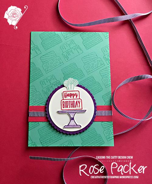 Rose Packer, Creative Roses, Stampin' Up!, Piece of Cake stamp set, Cake builder punch