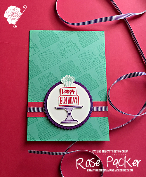 Rose Packer, Creative Roses, Stampin' Up!, Piece of Cake stamp set, Cake builder punch