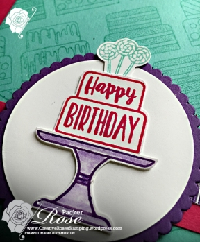 Rose Packer, Creative Roses, Stampin' Up!, Piece of Cake, Cake builder punch
