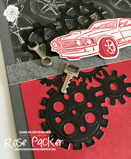 Rose Packer, Creative Roses, Stampin Up!, Classic Garage suite, Geared up Garage, Garage Gears thinlits