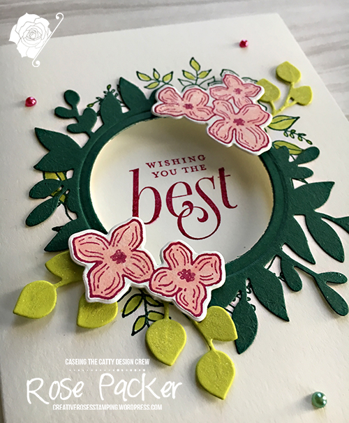 Rose Packer, Creative Roses, Stampin' Up!, Floral Frames stamp set, Foliage Frames thinlits