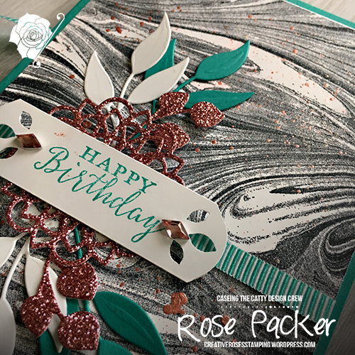 Rose Packer, Creative Roses, Stampin' Up!, Marbled, Detailed with Love, Rose Gold Shimmer Paint