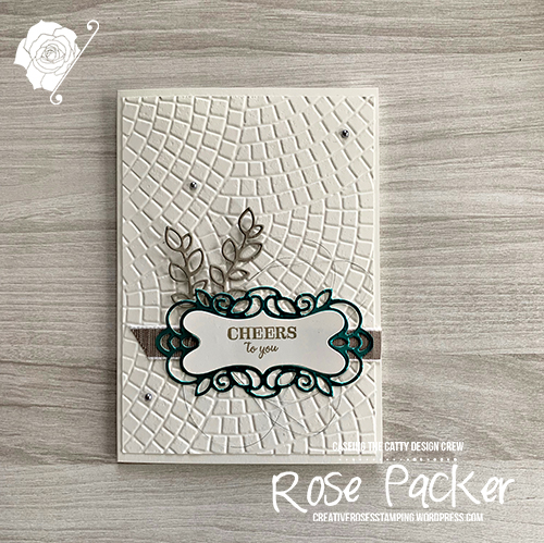 Rose Packer, Creative Roses, Stampin' Up!, Band Together, Mosaic, Noble Peacock