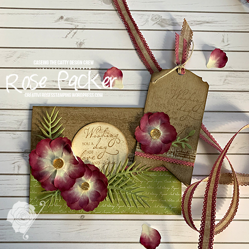 Rose Packer, Creative Roses, Stampin' Up!, Pressed Petals, Woven Heimlooms stamp set, Washi tape