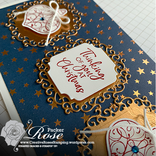 Rose Packer, Creative Roses, Stampin' Up!, Brightly Gleaming, Christmas Gleaming stamp set, gleaming ornament punch pack, Ornate Frames dies