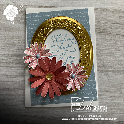 Rose Packer, Creative Roses, Stampin' Up!, Woven Heirlooms, Heirloom Frames Embossing folder, Daisy Lane stamp set, Daisy punch