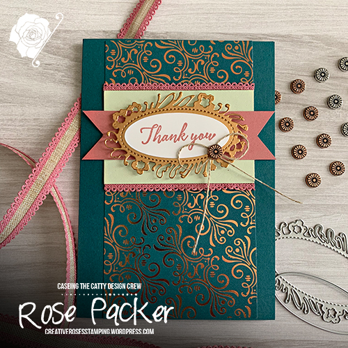Rose Packer, Creative Roses, Stampin' Up!, Petal Label dies, Tropical Chic, Brightly Gleaming