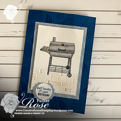 Rose Packer, Creative Roses, STampin' Up!, Outdoor Barbeque, Blends, Brick & Mortar EF