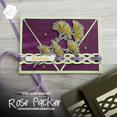 Rose Packer, Creative Roses, Stampin' Up!, Beautifully Braided, Braided Border punch, thank you