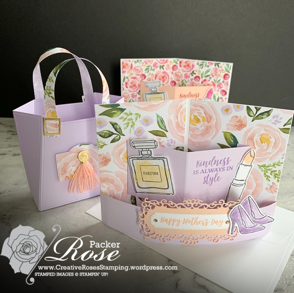 Rose Packer, Creative Roses, Stampin' Up!, Best Dressed Suite, 3D bendi pop up card, Dressed to impress