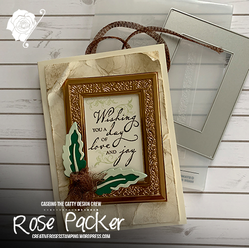 Rose Packer, Creative Roses, Stampin' Up!, Woven Heirlooms bundle, Woven Threads, Heirloom Frames & Embossing folder, Poppy Moments dies