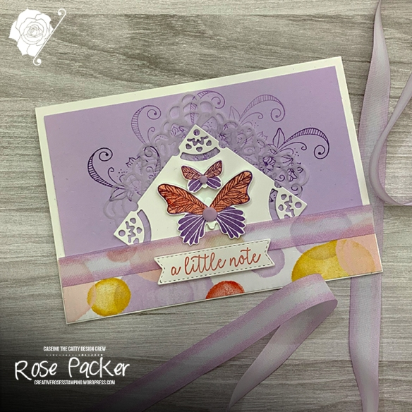 Rose Packer, Creative Roses, Stampin' Up!, Butterfly Gala, Field Tile dies, Playing with patterns
