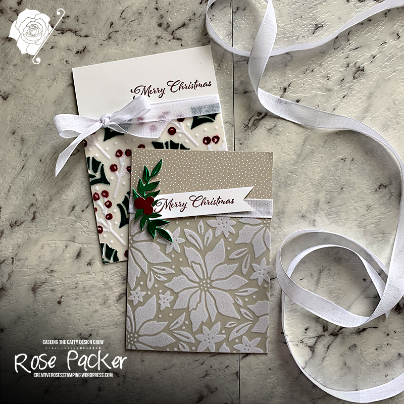 Rose Packer, Creative Roses, Stampin' Up!, Plush Poinsettia specialty paper, Cherish the Season stamp set