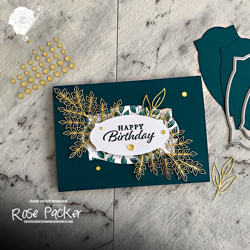 Rose Packer, Creative Roses, Stampin' Up!, Pretty Peacock, Happy Thoughts, Forever Greenery suite