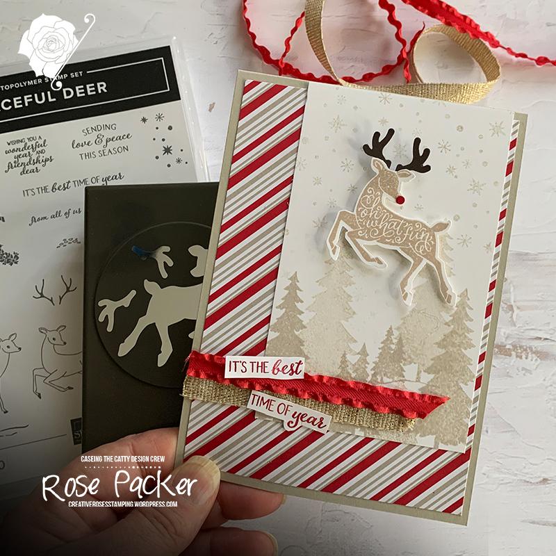 Rose Packer, Creative Roses, Stampin' Up!, Peaceful Deer, Reindeer builder punch