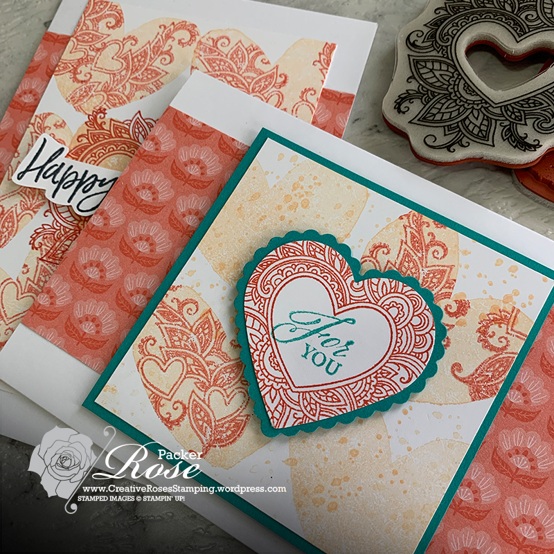 Rose Packer, Creative Roses, Stampin' Up!, Henna Hearts, Kissing technique